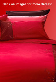 Bed with Red Beddings