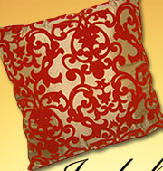 Red and Gold Cushion