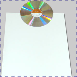 Home Decor and Handicraft: CD Centered on A4 Paper