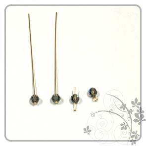 Home Handicraft: Place Crystal onto Headpin